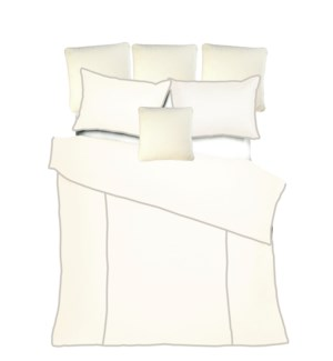 Churchill Linen - Ivory with Flax Bedset - King